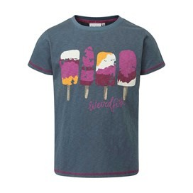 Ices Slub Graphic Tee Dark Denim