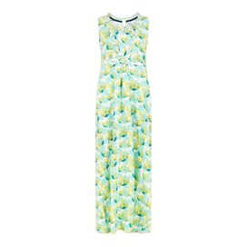 Cloud Printed Maxi Dress Cream