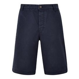 Hiram Cotton Twill Shorts Black Iris