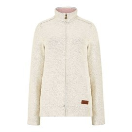 Eartha Full Zip Sierra Knit Light Cream