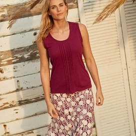 Malmo Printed Jersey Skirt Boysenberry