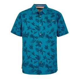 Mullins Hawaiian Short Sleeve Shirt Blue Jay