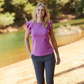 Karoo Quick Dry Plain T-Shirt Purple Orchid