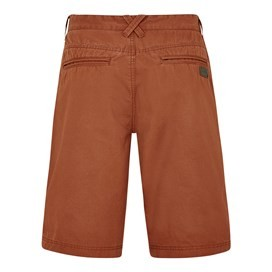 Hiram Cotton Twill Shorts Brick Red