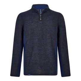 Siren 1/4 Zip Active Macaroni Sweatshirt Black Iris