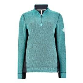 Emmie 1/4 Zip Active Macaroni Sweatshirt Aqua Sky