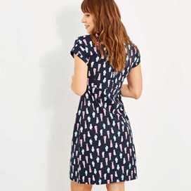 Tallahassee Printed Cotton Jersey Dress Indigo