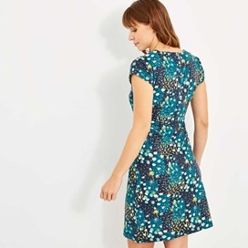 Tallahassee Printed Cotton Jersey Dress Blue Sapphire