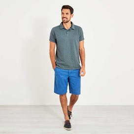 Herger Pigment Dyed Stripe Polo Dusty Teal
