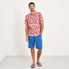 Mullins Hawaiian Short Sleeve Shirt Rose