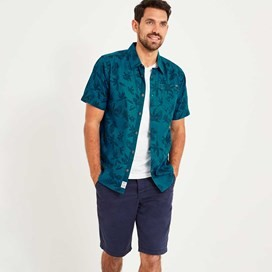 Mullins Hawaiian Short Sleeve Shirt Blue Jay