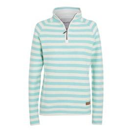 Wren Striped ¼ Zip Macaroni Sweatshirt Spearmint