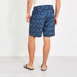 Tackle Printed Board Short Maritime Blue