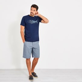 Binard Stripe Shorts Denim