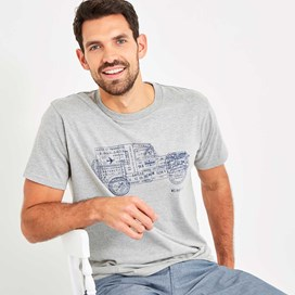 Explorer Branded Tee Grey Marl