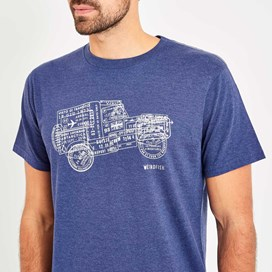 Explorer Branded Tee Blue Marl
