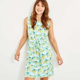 Kimi Printed Tea Dress Cream