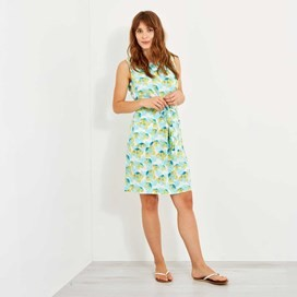 Kimi Printed Tea Dress Cream