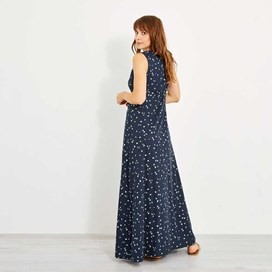 Natalia Printed Maxi Dress Midnight