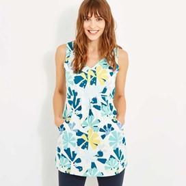 Sandie Printed Jersey Tunic Aqua Sky