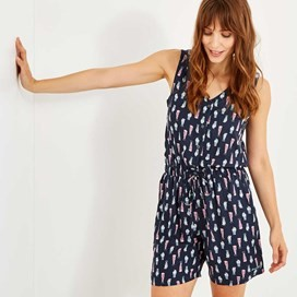 Georgia Printed Playsuit Indigo