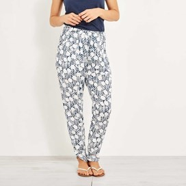 Nimbus Lightweight Printed Harem Trouser Dark Denim