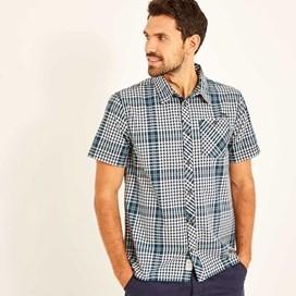 Frobe Short Sleeve Shirt Maritime Blue
