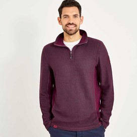Siren 1/4 Zip Active Macaroni Sweatshirt Wine