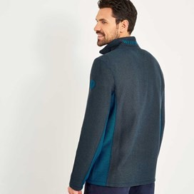 Siren 1/4 Zip Active Macaroni Sweatshirt Dusty Teal