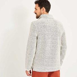 Skipper 1/4 Zip Classic Macaroni Sweatshirt Ecru