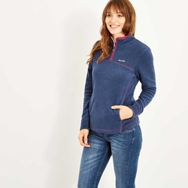 Chrystal 1/4 Zip Microfleece Dark Navy
