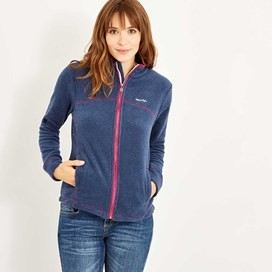 Monroe Striped Microfleece Full Zip Dark Navy