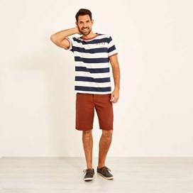 Hiram Cotton Twill Shorts Brick Red