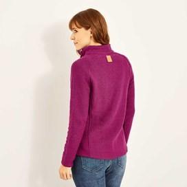 Constantine Print Trim 1/4 Zip Classic Macaroni Sweatshirt Boysenberry