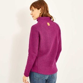Damla Print Trim Full Zip Classic Macaroni Jacket Boysenberry