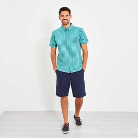 Newton Button Down Gingham Check Shirt Menthol