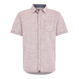 Langholm Stripe Short Sleeve Shirt Brick Red