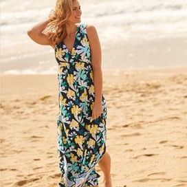 Natalia Printed Maxi Dress Dark Navy