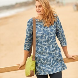 Shipra Printed Tencel ® Tunic Blue Surf