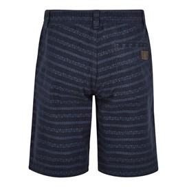 Paxton Cotton Printed Shorts Black Iris