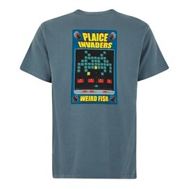 Plaice Invaders Artist Tee Dusty Teal
