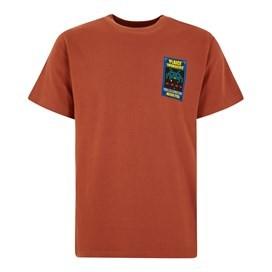 Plaice Invaders Artist T-Shirt Brick Orange