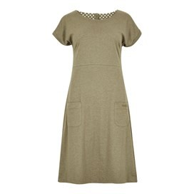 Talia Plain Jersey Dress Dusky Green Marl