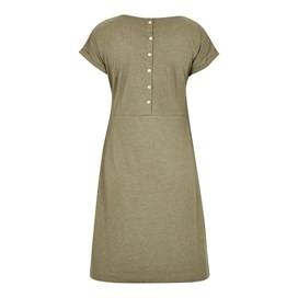 Talia Plain Jersey Dress Dusky Green Marl