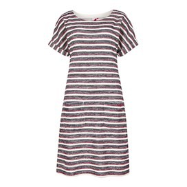 Brit Stripe Jersey Dress Light Cream
