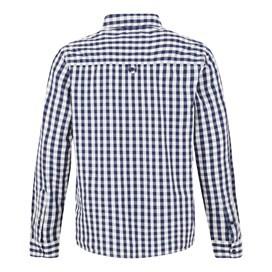 Blakely Long Sleeve Gingham Check Shirt Black Iris