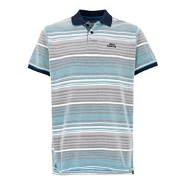 Persley Pique Dobby Stripe Polo Blue Jay