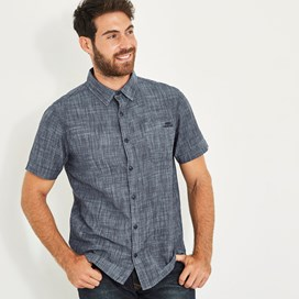 Winnfield Chambray Short Sleeve Shirt Denim