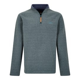 Newark 1/4 Zip Grid Fleece Sweatshirt Evergreen