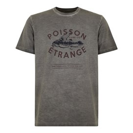 Poisson Branded Graphic T-Shirt Grey